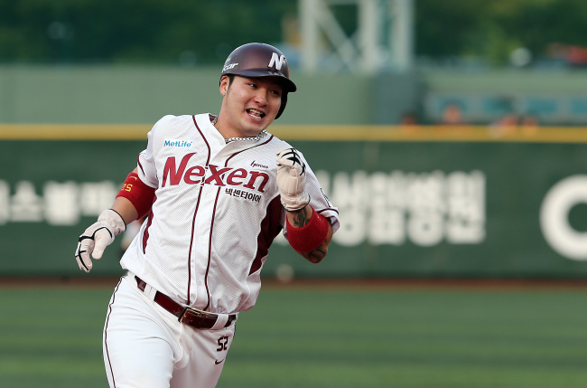 South Korean baseball player Park Byung-ho of the Nexen Heroes (Yonhap)