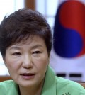 South Korean President Park Geun-hye speaks during a regular meeting at the presidential house in Seoul, South Korea, Monday, Aug. 24, 2015. Park on Monday vowed a hard line as marathon negotiations by senior officials from the Koreas stretched into a third day in an attempt to defuse a crisis that had the rivals threatening war.(Chun Jin-hwan/Newsis via AP)