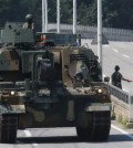 """A K10 Ammunition Re-supply Vehicle rolls along a road in the South Korean border city of Paju on Aug. 17, 2015, as South Korea and the United States launched a joint military exercise amid North Korea's threat to retaliate with """"the strongest military counteraction"""" against the drill. The Ulchi Freedom Guardian exercise, the world's largest computerized military drill aimed at defending the South from a North Korean attack, kicked off earlier in the day in South Korea for a 12-day run. (Yonhap)"""