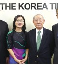From left: KCS President Kim Kwang-suk, Director Annie Shin, committee members Yoon Young-jae, John Kim