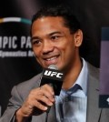 Ben Henderson, a UFC fighter born to a Korean-American mother and an African-American father, speaks during a press conference in Seoul on Sept. 8, 2015. (Yonhap)