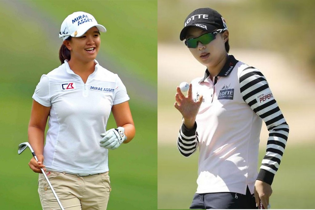 South Korean LPGA Tour Rookies Kim Sei-young, left, and Kim Hyo-joo (AP Photos)