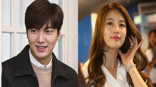 Lee Min-ho, left, and Suzy. (Yonhap)