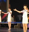 North Korea's Moranbong Band performs in Pyongyang on May 21, 2014. (Yonhap)