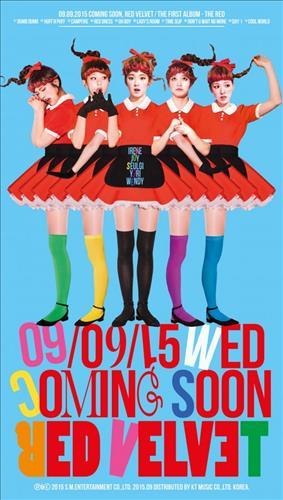 """The poster for Red Velvet's upcoming album """"The Red."""" (Photo courtesy of S.M. Entertainment) (Yonhap)"""