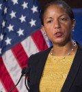 U.S. National Security Adviser Susan Rice speaks about the U.S. - China relationship and upcoming Chinese State Visit to Washington at George Washington University in Washington, DC, September 21, 2015. (Yonhap/AFP)