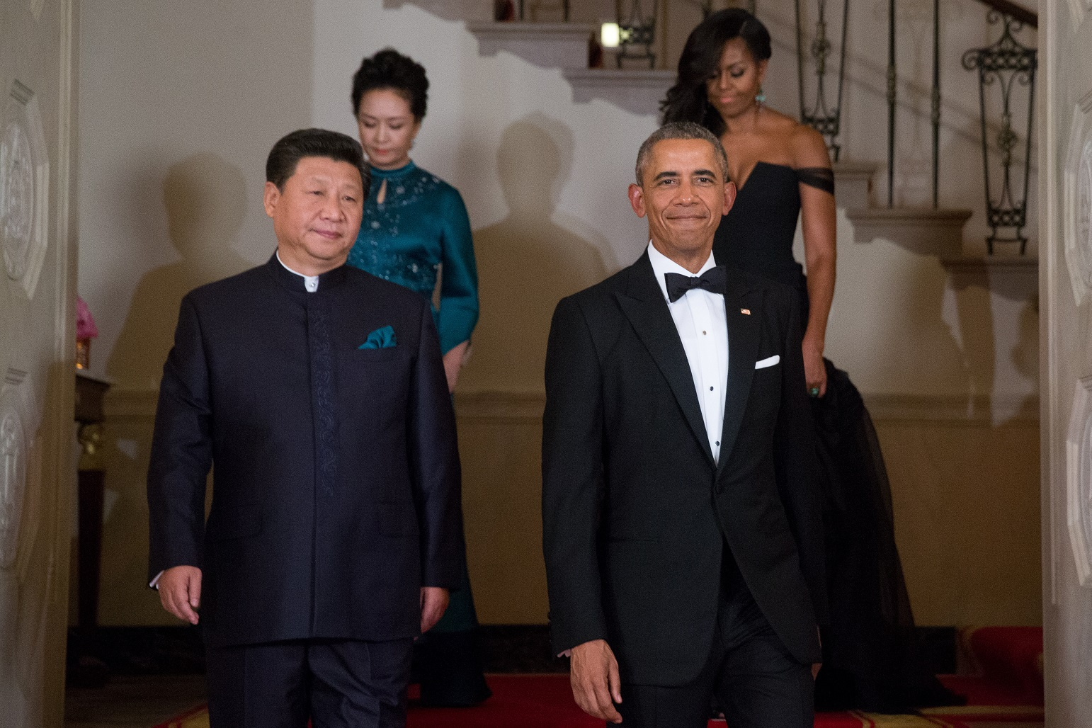 President barack obama chinese president xi jinping first lady michelle obama and jinping s wife