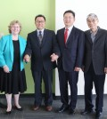 Representatives of Queens College, Korea University and Kyung Hee University agreed on an academic partnership program Thursday.