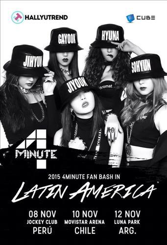 4MINUTE FAN BASH IN LATIN AMERICA