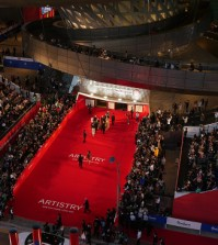 Filmmakers, actors and actresses attend the opening ceremony of Busan International Film Festival in Busan on Thursday.