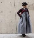 A hanbok by Kwon Miru (Photo courtesy of Yonhap/Kim Kyung-hun)