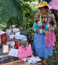 Maria del Refugio Ruiz Bravo, 86, sets out to dry personal belongings that were soaked by Hurricane Patricia in La Fortuna, Mexico. (Rebecca Blackwell/Associated Press)