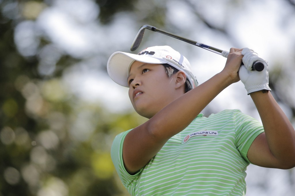 South Korean golfer Kim Sei Young (AP Photo/Laurent Cipriani)