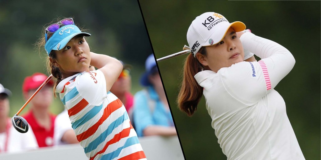 Lydia Ko, left, is looking for her third win in three consecutive starts at the 2015 Sime Darby Malaysia Open, while Park Inbee looks to defend her world No. 1 position. (AP Photos)