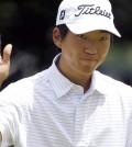 Korean American PGA Tour rookie Michael Kim (AP Photo/Morry Gash)