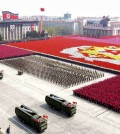 A North Korean missile unit takes part in a military parade to celebrate the 75th anniversary of the founding of the Korean People's Army in Pyongyang in this picture taken April 25, 2007. North Korea fired several short-range missiles towards the Sea of Japan on Friday morning, Kyodo news agency said, quoting Japanese and U.S. Officials. (Yonhap)