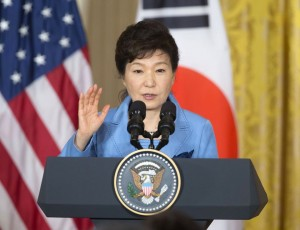 """President Park Geun-hye sent a message to the forum that now is the time to extensively make """"practical"""" efforts to improve the North's dire human rights situation. (AP Photo/Pablo Martinez Monsivais)"""
