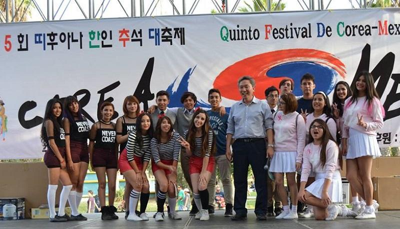 A San Diego Korean Mexican festival Saturday featured K-pop contestants.