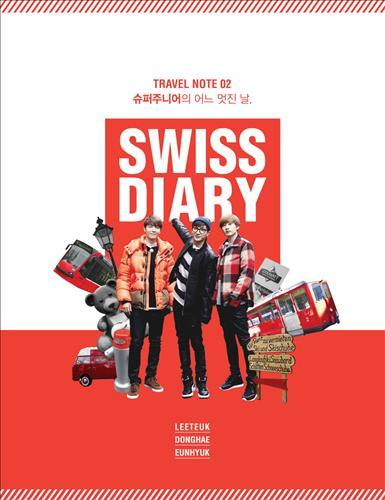 Cover of Leeteuk, Donghae and Eunhyuk's upcoming travel diary. (Photo courtesy of S.M. Entertainment / Yonhap)