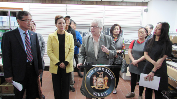 New York Senator Toby Ann Stavisky announced Thursday that construction would begin this month on a 149th Street bridge that has been closed since 2010.