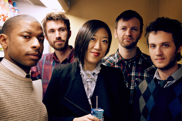 Young Jean Lee, middle, also has a band she performs with.