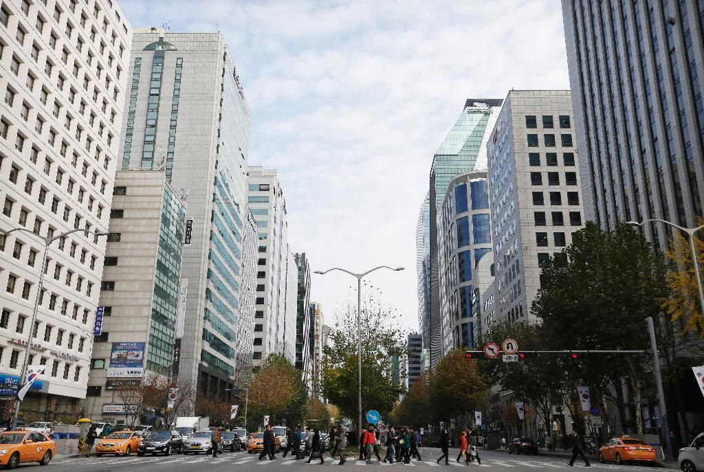Gangnam district in Seoul, South Korea. (AP Photo/Ahn Young-joon)