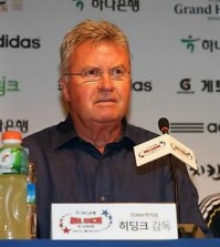 Ex-South Korean football coach Guus Hiddink (Yonhap)