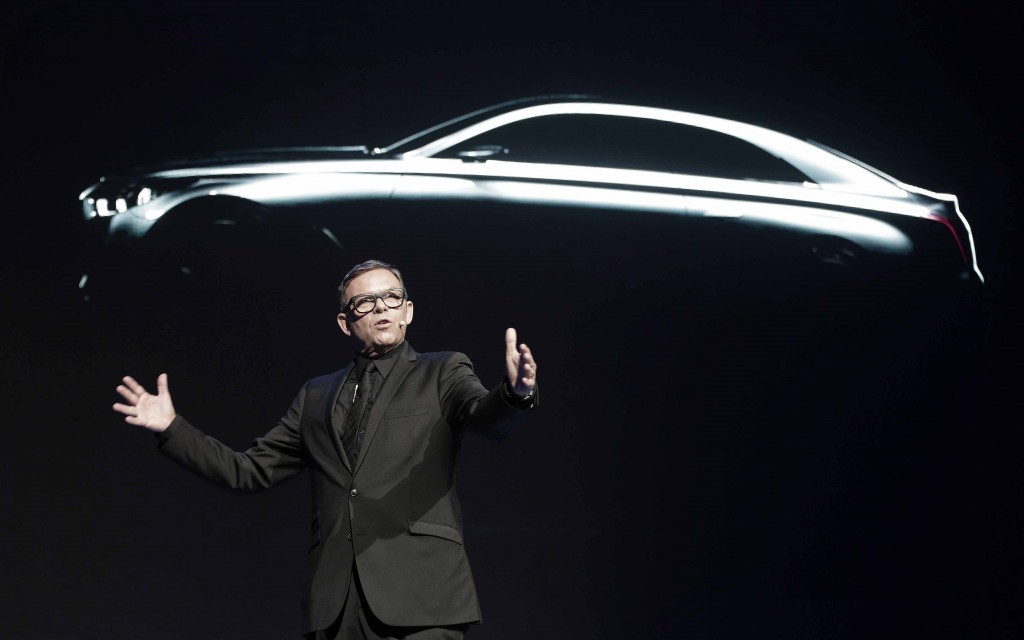 Hyundai Motor Co. Chief Designer Officer Peter Schreyer speaks during a news conference in Seoul, South Korea, Wednesday, Nov. 4, 2015. Hyundai Motor said Wednesday it has launched a premium car brand named after its Genesis sedan to boost earnings and its share of the fast-growing global market for luxury vehicles. (AP Photo/Ahn Young-joon)