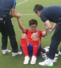 S. Korean midfielder Lee Chung-yong may not be available at the upcoming World Cup qualifier due to another foot injury that he sustained (Yonhap)