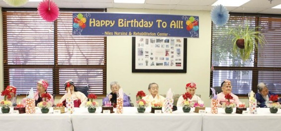 A nursing home near Chicago held a joint birthday party for eight elders over age 100. (Korea Times Chicago)