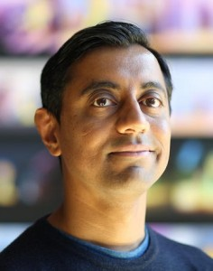 Sanjay Patel is photographed at Pixar Animation Studios in Emeryville, Calif. (Photo by Deborah Coleman / Pixar)