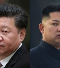 Chinese President Xi Jinping, left, and North Korean leader Kim Jong-un. (AP Photos)