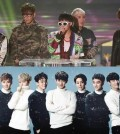 BigBang, top, and EXO