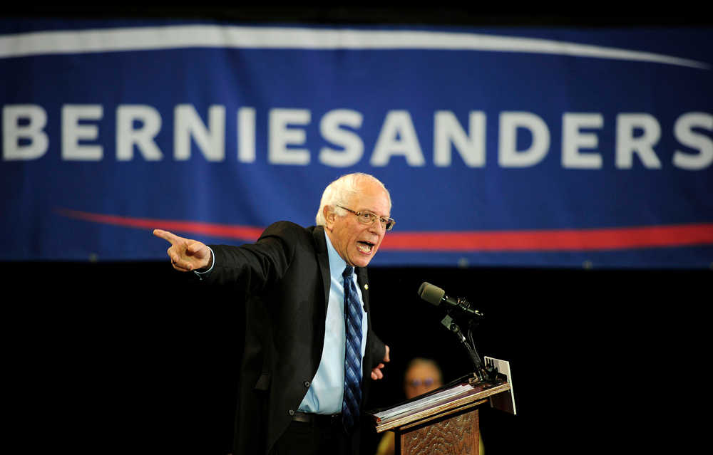 Democratic presidential candidate Bernie Sanders speaks Saturday, Nov. 7, 2015, at the University of South Carolina Aiken, S.C. (Chris Thelen/The Augusta Chronicle via AP)