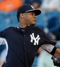 Former New York Yankees' pitcher Esmil Rogers just signed the biggest contract for a foreign player over in the Korean Baseball Organization. (AP Photo/Kathy Willens)