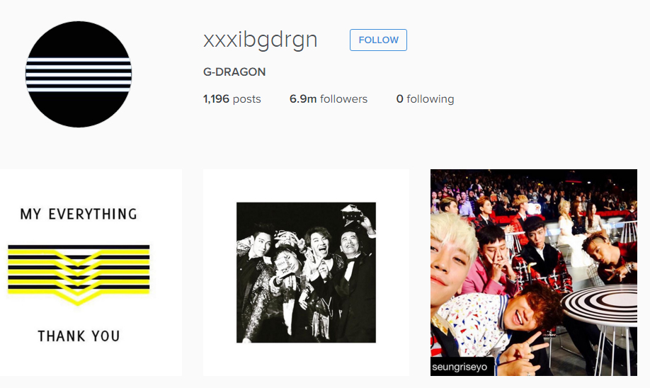 (G-Dragon Instagram)