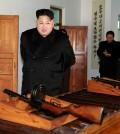 North Korean leader Kim Jong-un inspects the Phyongchon Revolutionary Site in Pyongyang. (KCNA/Yonhap)