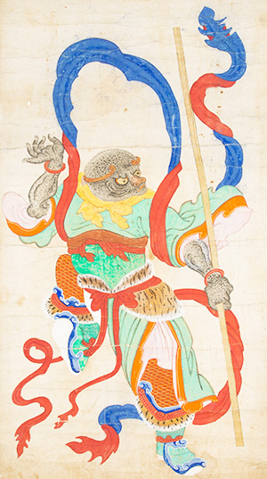 A painting of a monkey, which is one of the 12 animals represented in the Chinese zodiac. (Courtesy of National Folk Museum)