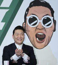 K-pop star Psy speaks at a press conference about his newly released seventh album at the Conrad Seoul in Yeouido, Monday. (Courtesy of YG Entertainment)