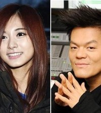 Chou Tzuyu, left, and Park Jin-young