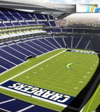 An artist's rendering provided by Carson2gether on April 23, 2015 shows the interior a proposed stadium that would house both the Chargers and the Raiders NFL football teams in Carson, Calif. (AP)