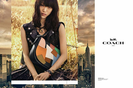 Model Choi So-ra in Coach's spring/summer 2016 worldwide campaign.  (Courtesy of YGKPlus)