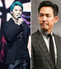Junsu, left, and Lee Jung-jae.