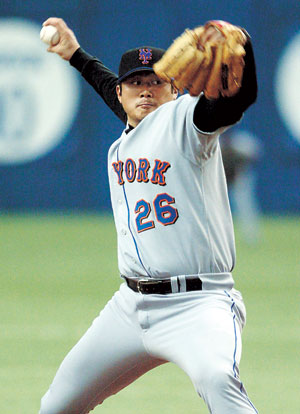 Seo had his best years with the New York Mets, going 9-12 with 3.82 ERA in 2003. (Korea Times file)