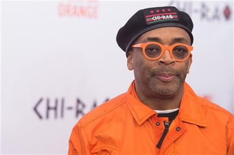 "Spike Lee attends the premiere of ""Chi-Raq"" at the Ziegfeld Theatre on Tuesday, Dec. 1, 2015, in New York. (Photo by Charles Sykes/Invision/AP)"