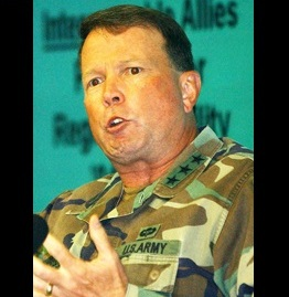 Late former 8th U.S. Army commander Charles Campbell (Korea Times file)