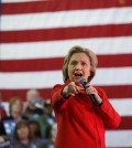 Democratic presidential candidate Hillary Clinton speaks at a rally at Truckee Meadows Community College on Monday, Feb. 15, 2016, in Reno, Nev. (AP Photo/Marcio Jose Sanchez)