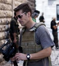 Journalist James Foley in Aleppo, Syria, in September 2012. (AP)