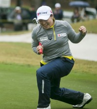 Ha Na Jang wins the 2016 Coates Golf Championship with a -11 for the final round at Golden Ocala Golf & Equestrian Club, Friday, Feb. 6, 2016, in Ocala, Fla. Jang sealed the win with a birdie on 18. It's her first LPGA win. (AP)