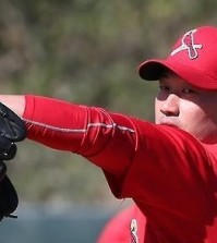 Oh Seung-hwan of the St. Louis Cardinals makes a pitch during spring training in Jupiter, Florida, on Feb. 25, 2016. (Yonhap)